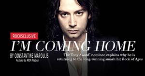 He's Coming Home! Constantine Maroulis Will Return to His Tony-Nominated Role in ROCK OF AGES