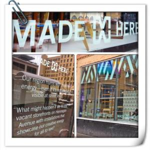 MADE HERE Launches Pop-Up Galleries in Vacant Storefronts; Applications to Display Open 8/1