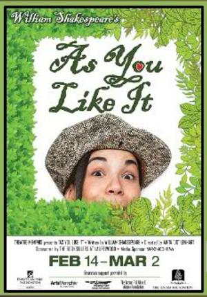 Theatre Memphis Presents Shakespeare's Comedy AS YOU LIKE IT, Now thru 3/2