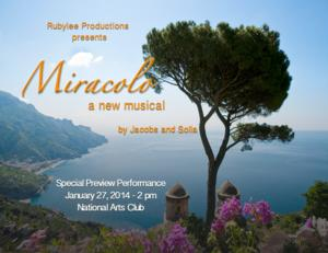 Anita Gillette, David Cryer, Jennifer Hope Wills and More Set for Preview of New Musical MIRACOLO, 1/27