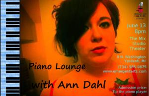 Emergent Arts Presents Monthly Piano Nights Series, Starting with Ann Dahl, 6/13