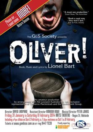 The Gilbert and Sullivan Society of SA to Present OLIVER!, Beg. Jan 31