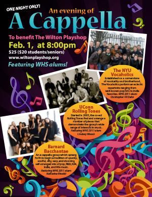 Wilton HS Alums Set for AN EVENING OF A CAPPELLA at Wilton Playshop Tonight