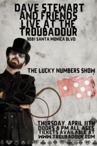DAVE STEWART to Play Special Show at LA's The Troubadour, 4/11