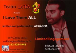 LATEA Theater & Caicedo Productions' I LOVE THEM ALL Opens Today