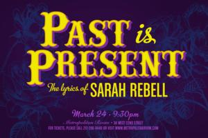 Anastasia Barzee, Joe Carroll and More Set for PAST IS PRESENT: THE LYRICS OF SARAH REBELL at the Met Room, 3/24