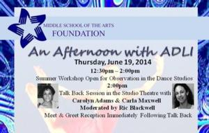 Renowned Dance Instructors Come to Palm Beach County for AN AFTERNOON WITH ADLI, 6/19