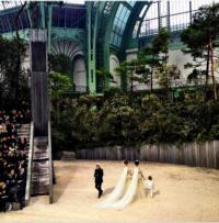 Chanel Couture Show Closes With Two Brides In Support of French Marriage Equality Law