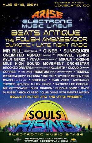 ARISE Music Festival 2014 Announces Souls Rising Electronic Music Stage