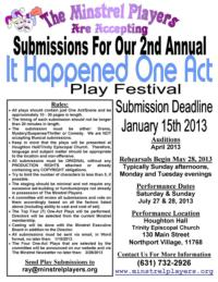 The-Minstrel-Players-Announce-2nd-Annual-IT-HAPPENED-ONE-ACT-20010101