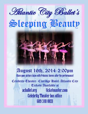 The Atlantic City Ballet Begins Its 32nd Season with SLEEPING BEAUTY, 8/16