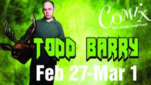 FLIGHT OF THE CONCHORDS' Todd Barry Set for Comix At Foxwoods, Begin. 2/27