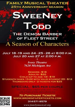 Family Musical Theater's SWEENEY TODD Plays Ivory Theatre, Now thru 7/27