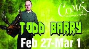 Comix at Foxwoods Presents Flight of the Conchords Star, Todd Barry, 2/27-3/1
