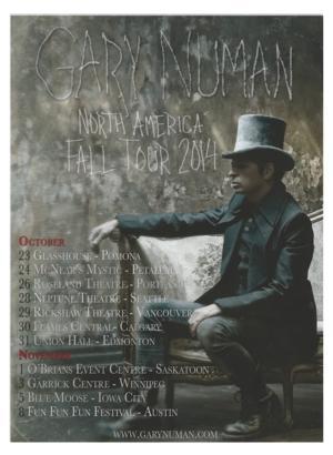 Gary Numan Announces North American Tour Dates This Fall