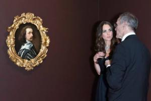 The Duchess of Cambridge Views Van Dyck's SELF-PORTRAIT at The National Portrait Gallery