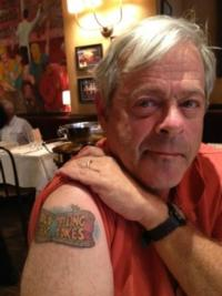 OLD JEWS TELLING JOKES' Dan Okrent Gets Show Logo Shoulder Tattoo