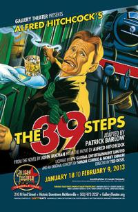 Gallery Theater to Open THE 39 STEPS, 1/18