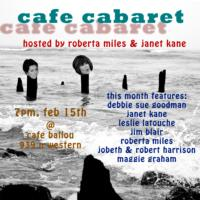 Cafe Cabaret to Welcome Feb 2013 Cast to Cafe Ballou, Beg. 2/15