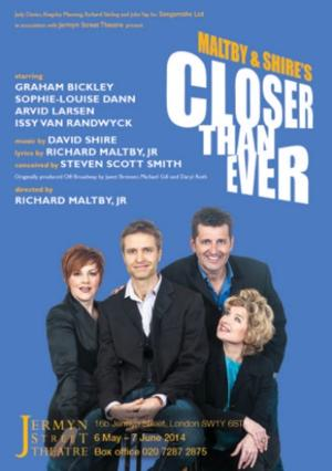 Graham Bickley, Sophie-Louise Dann & More Set for New Version of CLOSER THAN EVER at Jermyn Street Theatre