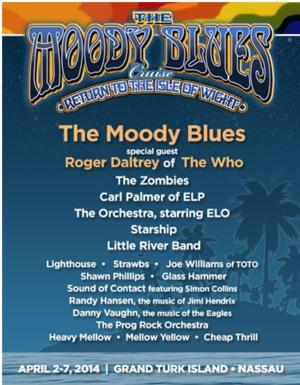'MOODY BLUES' & 'YES' Cruises Announce Unique On-Board Activities