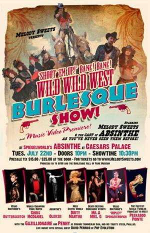 ABSINTHE Star Melody Sweets to Host a Wild Wild West Burlesque Show, 7/22