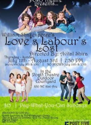 Post5 Theatre Company Kicks Off the Summer with LOVE'S LABOR'S LOST, Now thru 8/3