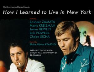 How I Learned Series Continues with 'TO LIVE IN NEW YORK' Tonight