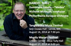 McGegan, Labelle, & Philharmonia's TESEO Has Successful West Coast Performance, Heads East