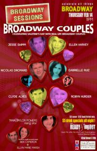 BROADWAY SESSIONS Celebrates Valentine's Day with Broadway Couples Tonight