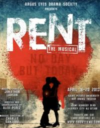 Argus Eyes Drama Society of Saint Peter's University's RENT Opens 4/16 in Jersey City