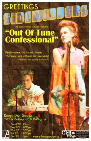 OUT OF TUNE CONFESSIONAL Plays Chicago Fringe, Now thru 9/6