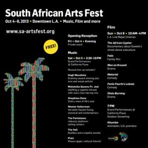 South African Arts Festival 2013 Comes to Los Angeles this Weekend, 10/4-6