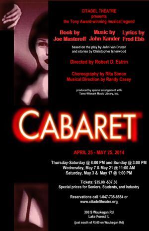 Citadel Theatre to Present CABARET, Begin. 4/25