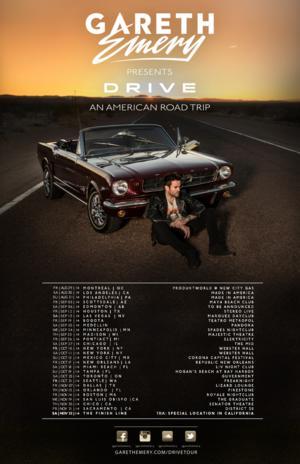 GARETH EMERY Presents 'Drive – An American Road Trip' Tour
