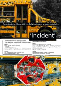 Canadian Artist Viktor Mitic Invited to Washington, DC to Debut INCIDENT, 4/5