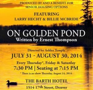 Senior Housing Options Opens ON GOLDEN POND Tonight at The Barth Hotel