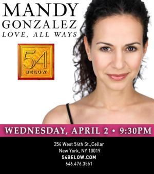 Mandy Gonzalez, Aaron Lazar & More Set for 54 Below this Week