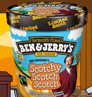 Ben and Jerry's Announce  New ANCHORMAN 2-Inspired Flavor