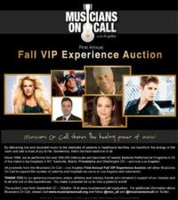 MUSICIANS ON CALL Holds Auctions to Raise Funds for Mattel Children's Hospital Program and More, Now thru 10/18