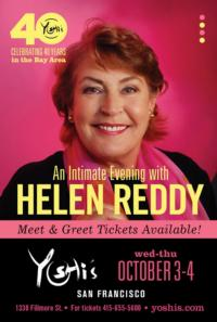Helen Reddy Plays Yoshi's Jazz Club in San Francisco, 10/3 & 4