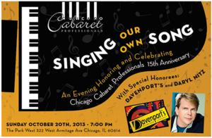 Chicago Cabaret Professionals to Host 15th Anniversary Gala at Park West Theatre, 10/20
