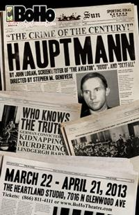 BoHo Theatre to Stage HAUPTMANN, 3/22-4/21
