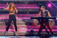 Karmin Rocks It In Pistol Clothing and Luichiny Pumps On DWTS