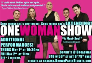 Shakina's ONE WOMAN SHOW Extends Through 5/2 at Sophie's