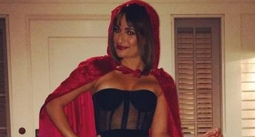 Lea Michele Evokes INTO THE WOODS With Little Red Riding Hood Halloween Costume