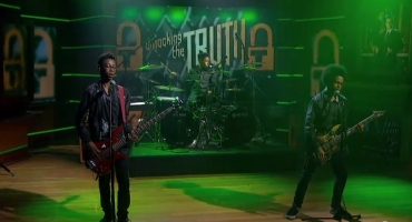 VIDEO: Teenager Heavy Metal Band Unlocking the Truth Performs on COLBERT