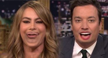 VIDEO: Sofia Vergara Lip Flips with Jimmy Fallon on TONIGHT