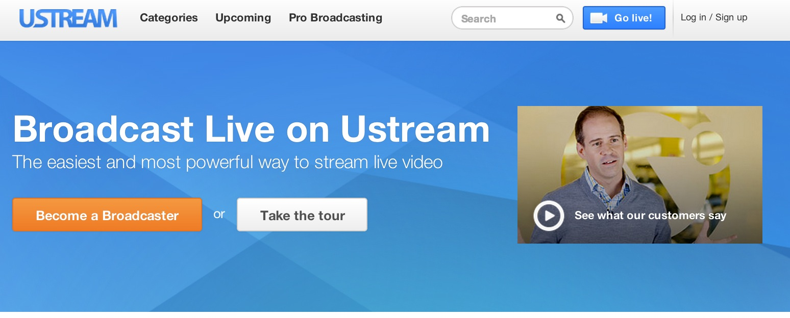 Wow! Ustream Powers Record 7.2 Million Live Video Streams in First Half of 2013