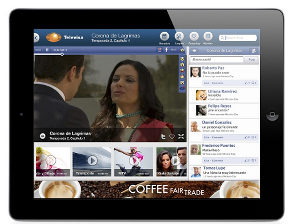 Televisa is the First to Launch Facebook Oriented Video Player from within Its TV App, Powered by Applicaster